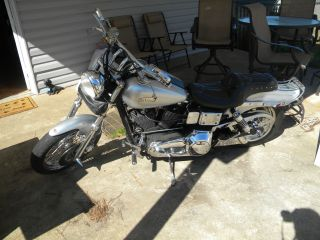 1992 Harley Davidson Dyna Wide Glide Custom Lots Of Chrome Evo Motor 24k photo