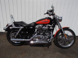 2008 Harley Davidson Xl1200 Sportster Black / Orange Hd H - D Um10219 Kw photo