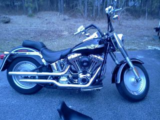 2003 Harley Davidson Fatboy 100th Anniversary,  Black photo