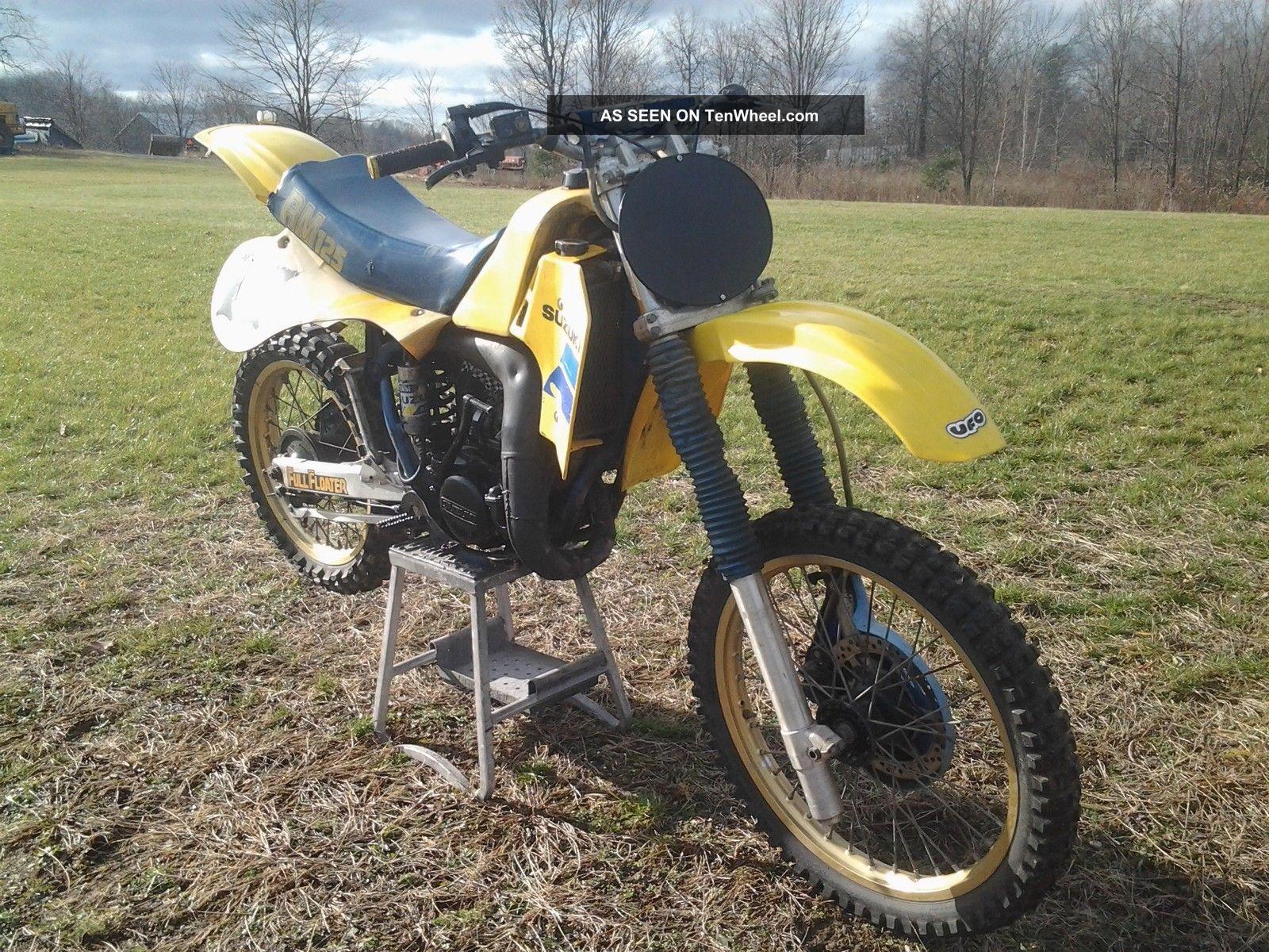 1984 Suzuki Rm125 Cr Kx Yz 125 Crf Mx Oem Vintage Motocross