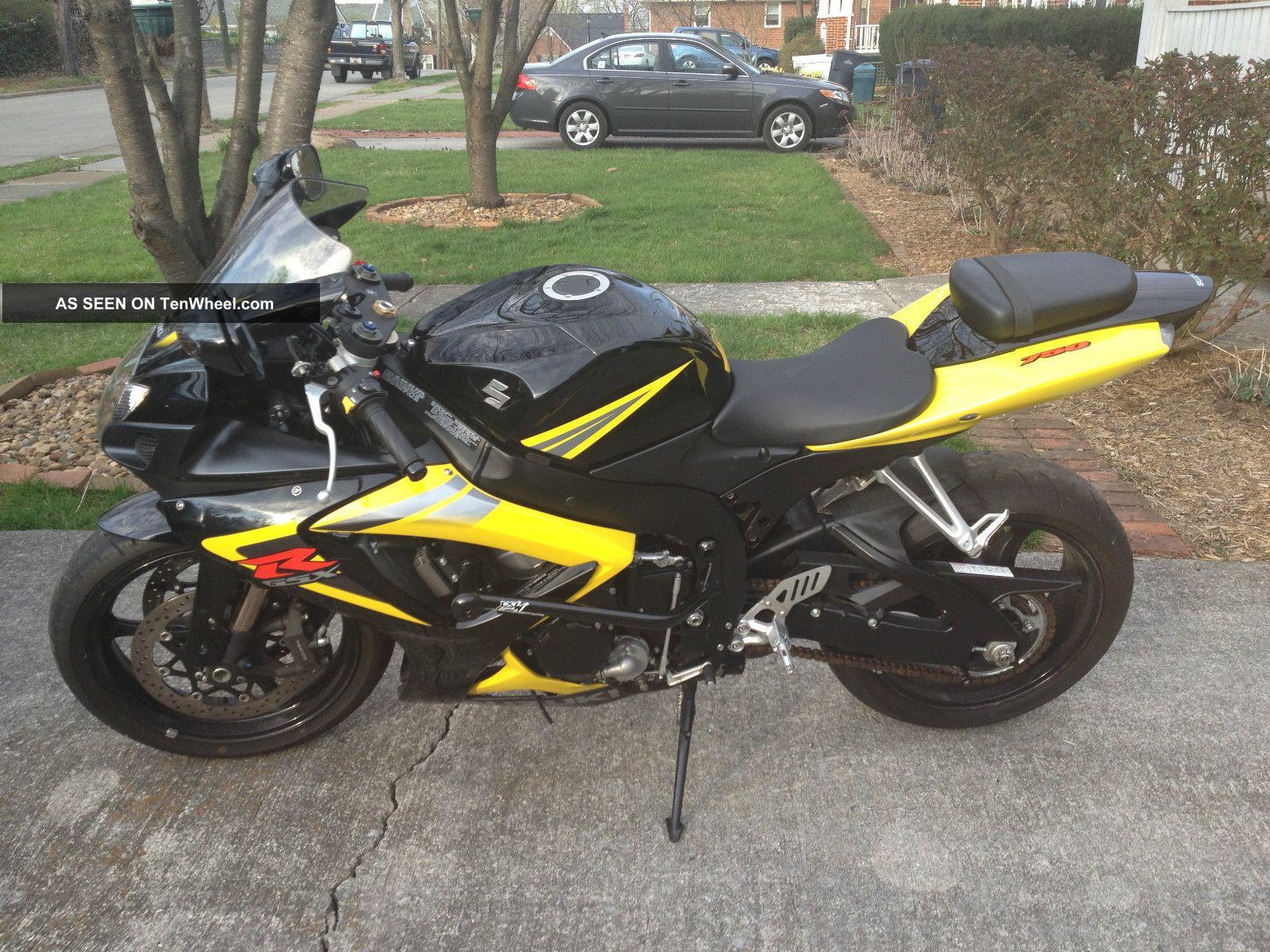 2006 Suzuki Gsxr 750 Motorcycle Black And Yellow