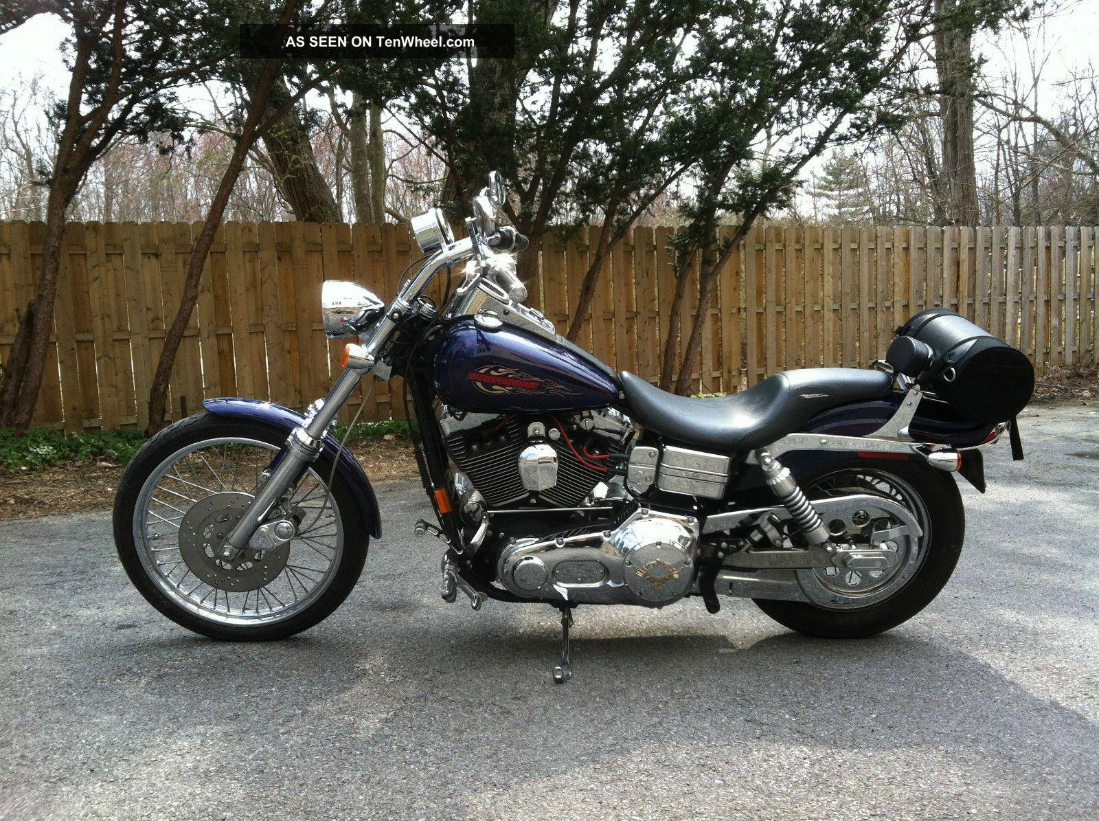 1999 Harley Davidson Fxdwg Dyna Wide Glide Cobalt Blue