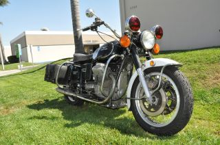 1974 Moto Guzzi Eldorado Police Bike With Siren Unrestored photo