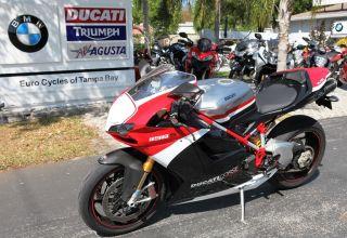 2010 Ducati 1198 S Corse Red Black White Ohlins Suspension photo