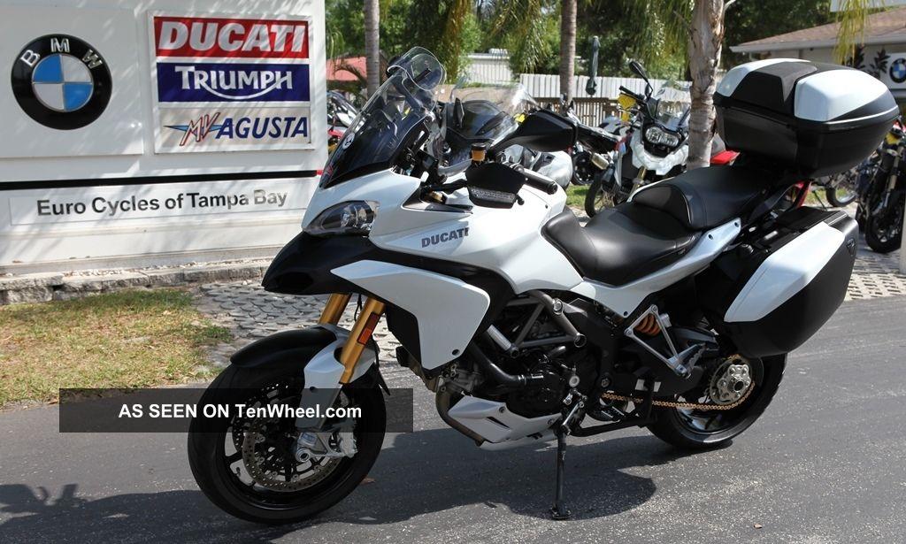 2011 Ducati Multistrada S White Mutlistrada 1200 S Touring Multistrada photo