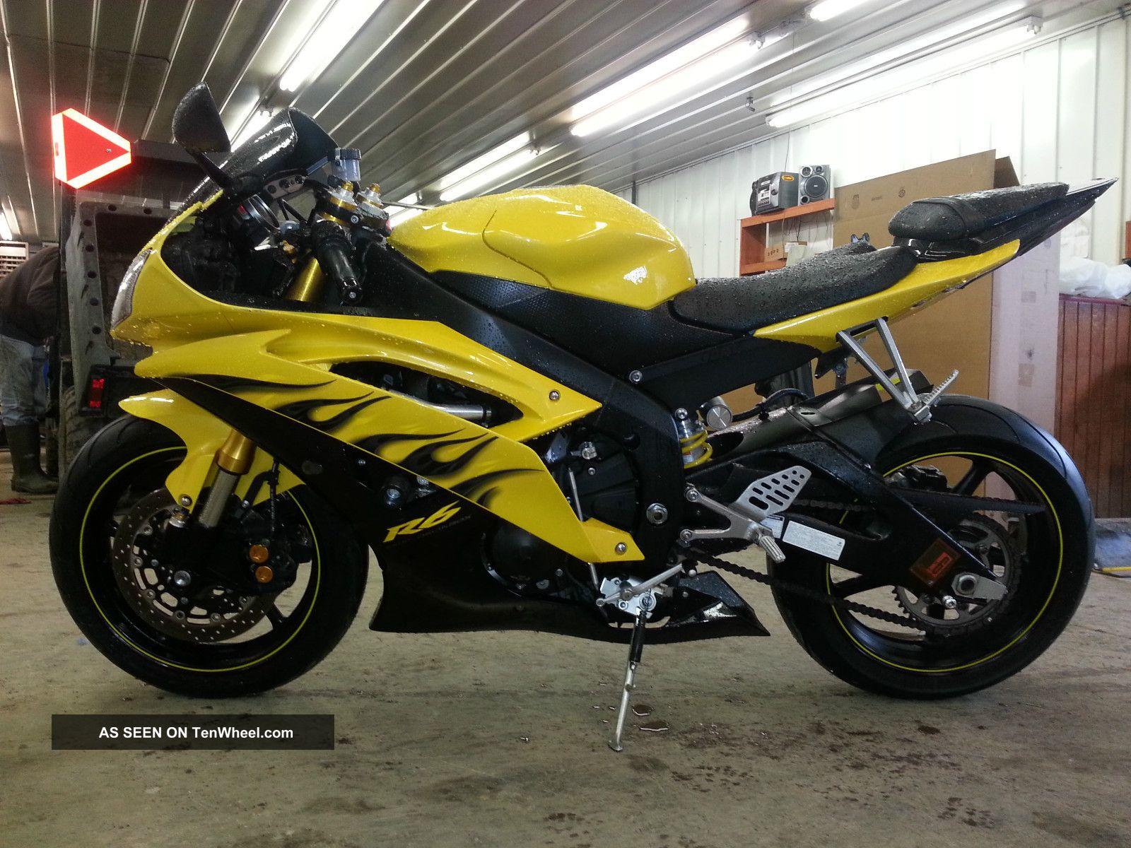 2008 Yamaha Yzf R6 Yellow And Black Mustsee