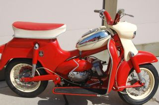 1961 Puch Cheetah Scooter,  Red,  Collectible,  Classic,  Moped photo