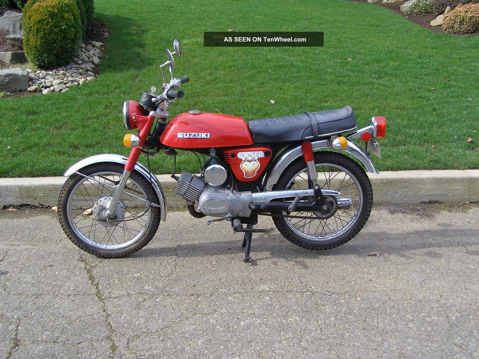 1976 Suzuki A100 Go Fer 100cc Vintage Street Bike 87 Chevy Dual Tank Schematic