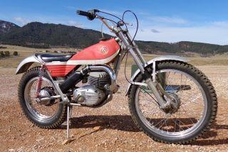 1972 Bultaco Sherpa T 250 Paint,  Tires Ahrma Trials photo
