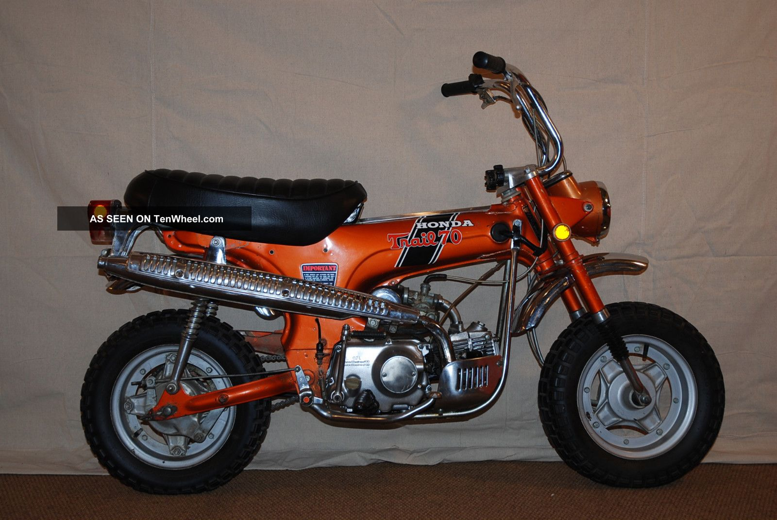 1970 Honda Ct70h - Topaz Orange - 4 Speed - Unrestored - Private Collection Other photo
