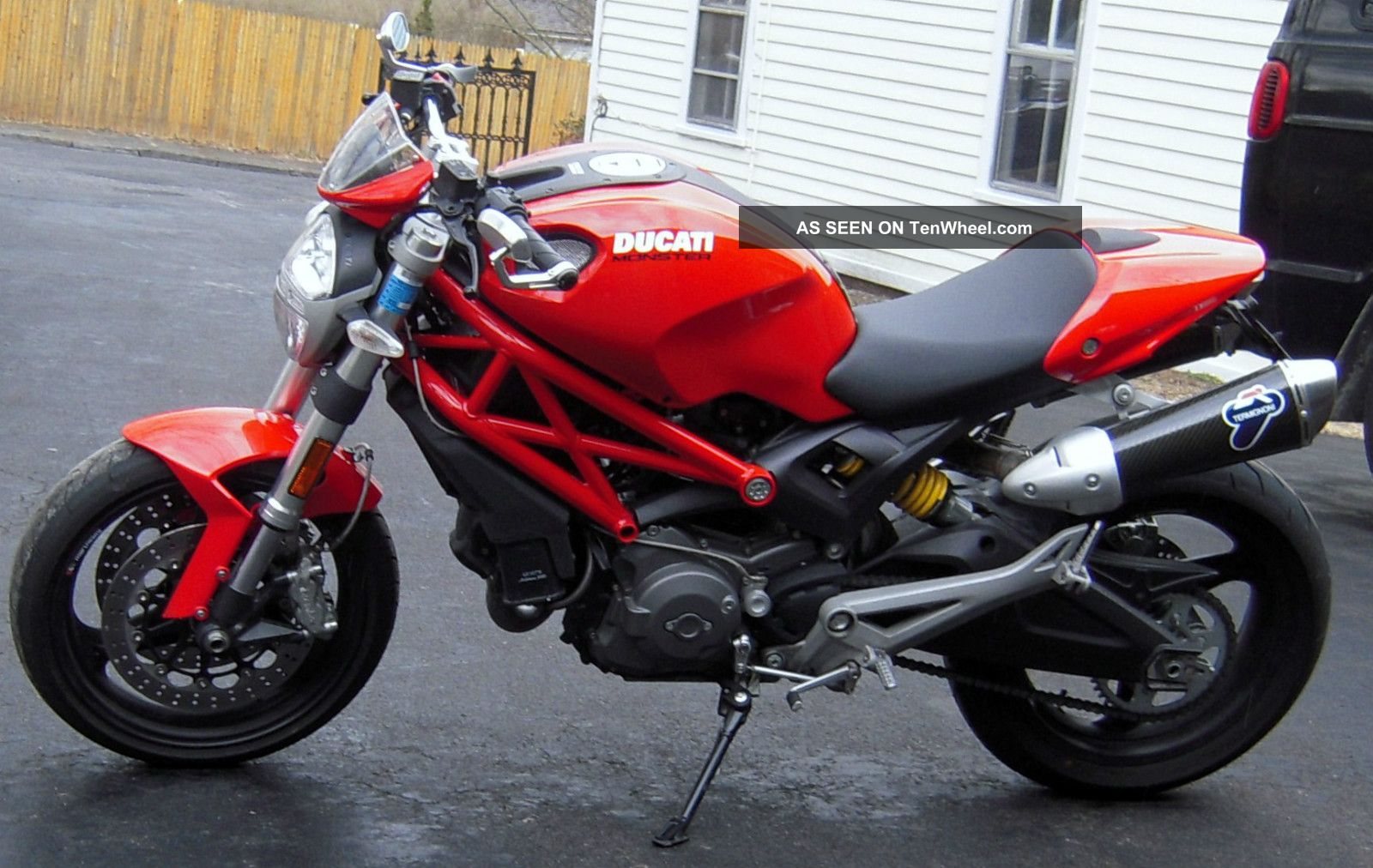 2009 Ducati Monster 696,  Red On Red Frame,  All Best Upgrades,  Better Than Monster photo
