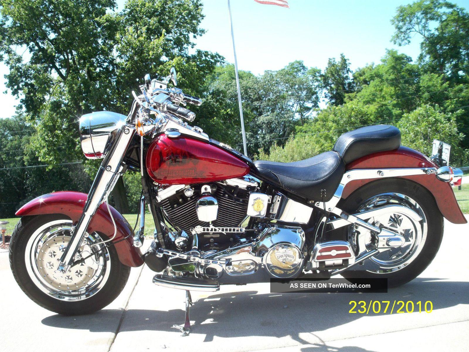 1994 Harley Davidson Fatboy Memorial Theme Fire Bike Softail photo