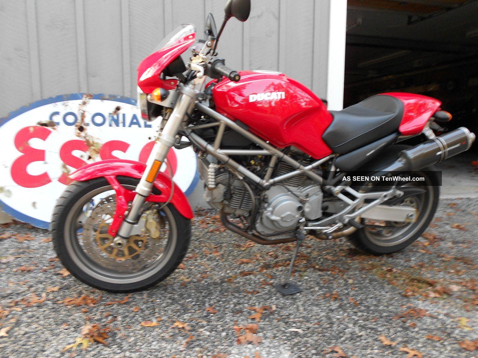 2002 Ducati 900 Monster Red Remus Performance Bike Monster photo