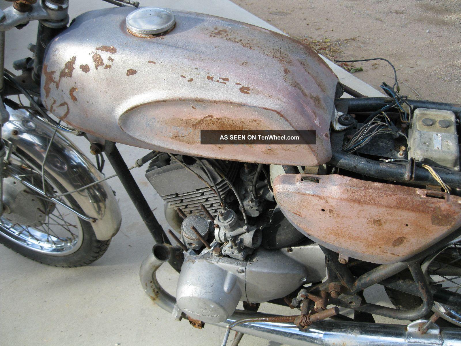 1969 Kawasaki H1 Mach Iii 500 Triple Blue Streak Vintage