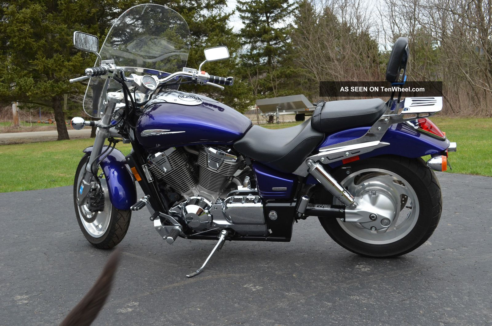 2003 Honda Vtx 1800 Blue With Accesories