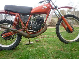 1978 Honda Elsinore Cr125m Vintage Survivor Motocross Dirt Bike 125cc Motorcycle photo