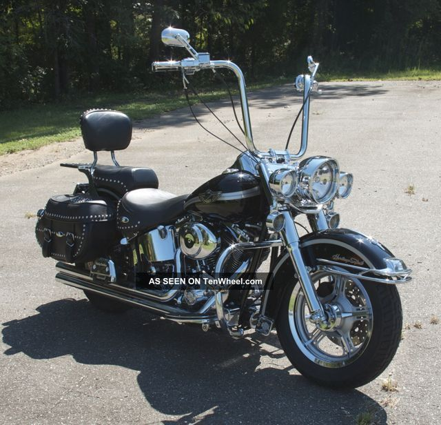 2003 Harley - Davidson Flstc Heritage Softail Classic,  Big Bore Kit Loaded Look Softail photo