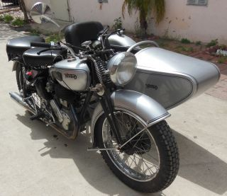 1939 Norton Big 4 Single With Sidecar,  74 Years Old,  Runner photo