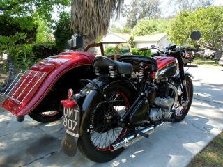 Bsa A7 1949 With Sidecar Antique Classic Collectable Totally photo