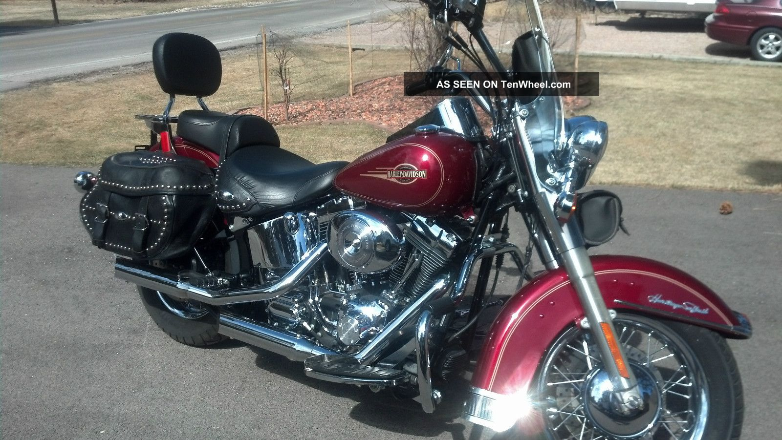 Deep Red 2005 Hd Heritage Classic With Big Bore Kit And Screamin Eagle Pipes Softail photo