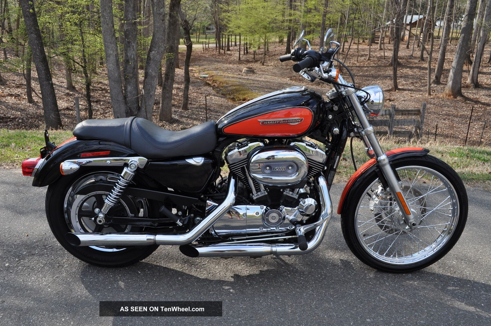 2009 Xl 1200 Custom Stunning Color Only $129.  00 A Month Sportster photo