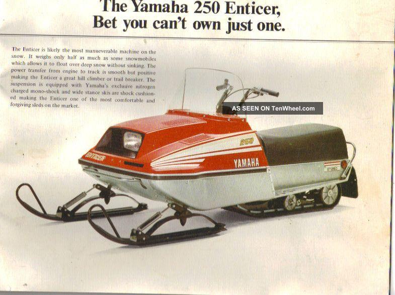 1978 yamaha et 250 enticer. Black Bedroom Furniture Sets. Home Design Ideas