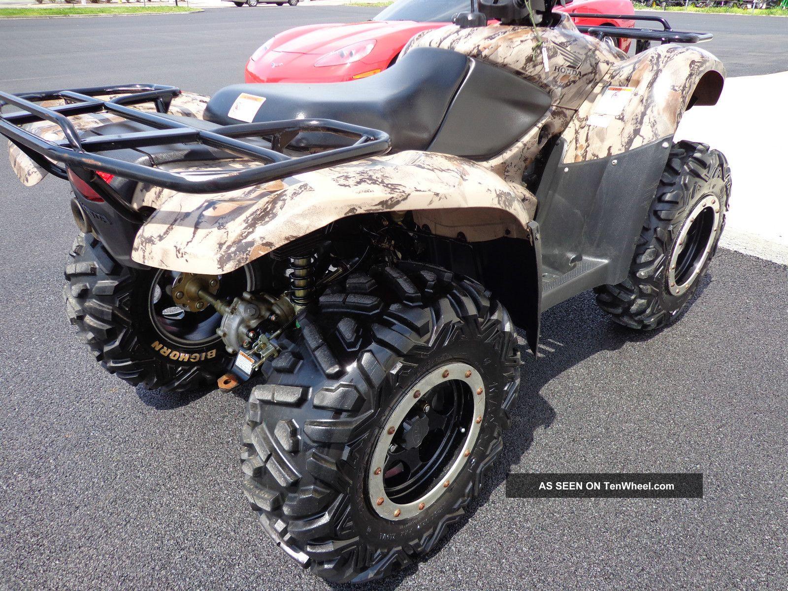 ... 2012 Honda Rancher Trx 420 Es 4x4 Camo Honda Photo 7 ...