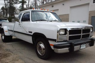 1993 Dodge Ram D350 Extended Cab 2wd Dually Pickup With Cummins 12v Turbo Diesel photo