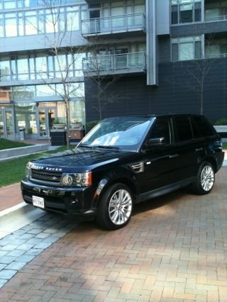 Black / Black 2010 Land Rover Range Rover Sport Hse Lux Sport Utility 4 - Door 5.  0l photo