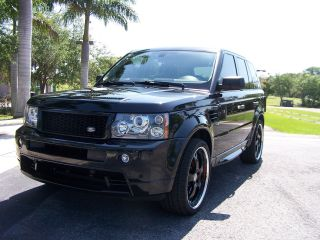 2009 Land Rover Ranger Rover Sport Supercharged Black On Black Custom 22