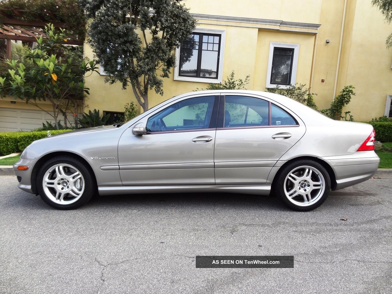 2003 mercedes benz c32 amg pewter metallic black