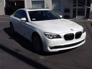 2012 Bmw 740i Luxury,  Premium,  And Convenience Package White / Black photo