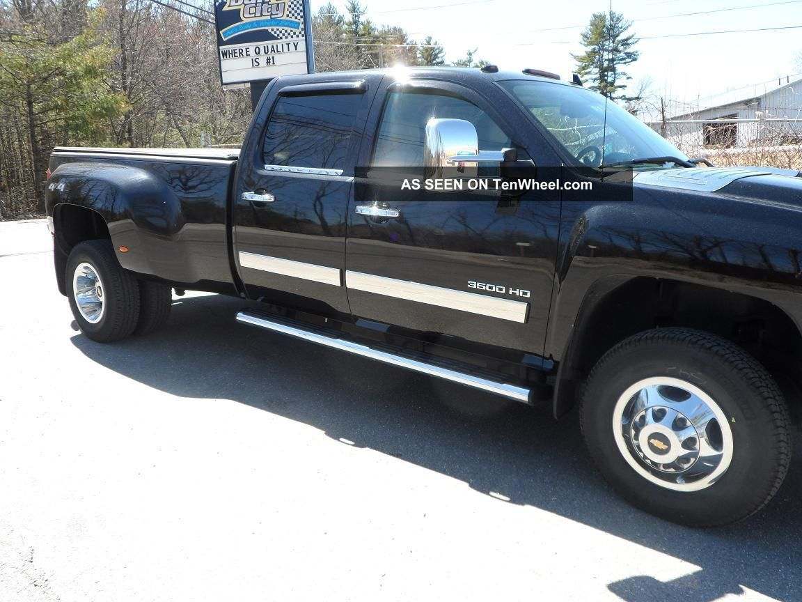 2011 Chevy Dually 3500 Hd Black With Cocoa Cashmere