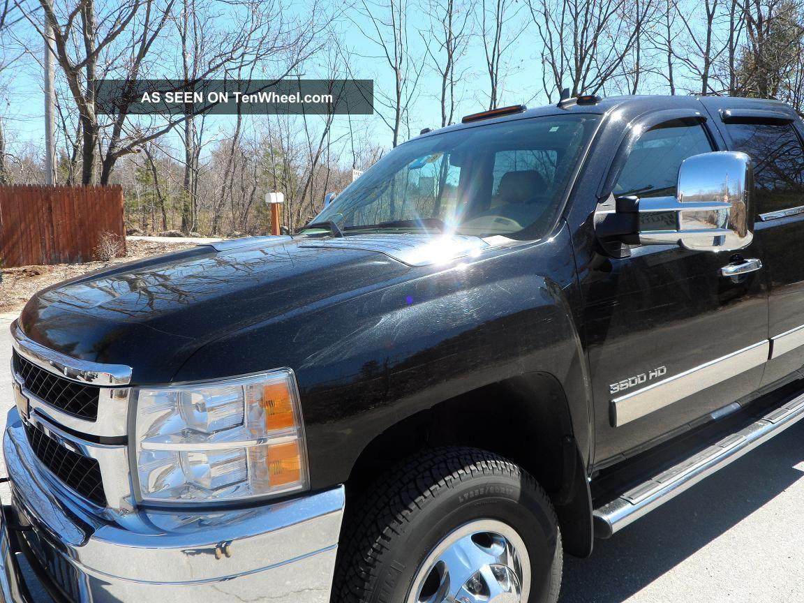 2011 Chevy Dually 3500 Hd,  Black With Cocoa Cashmere Interior Ltz,  Durmax 4x4 Silverado 3500 photo