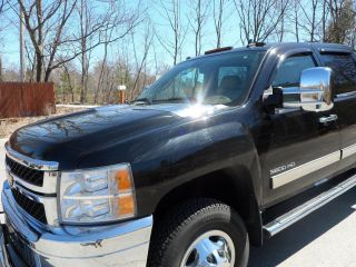 2011 Chevy Dually 3500 Hd,  Black With Cocoa Cashmere Interior Ltz,  Durmax 4x4 photo