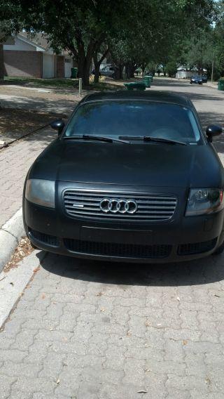 2002 Audi Tt Quattro Base Coupe Flat Black Unique Rare photo