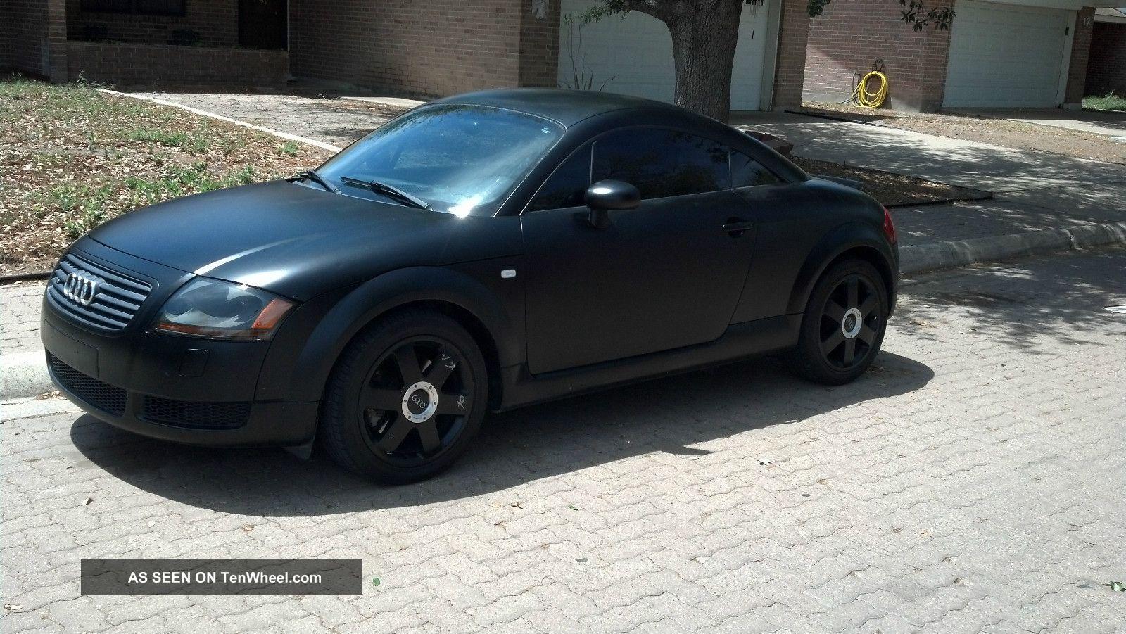 2002 Audi Tt Quattro Base Coupe Flat Black Unique Rare