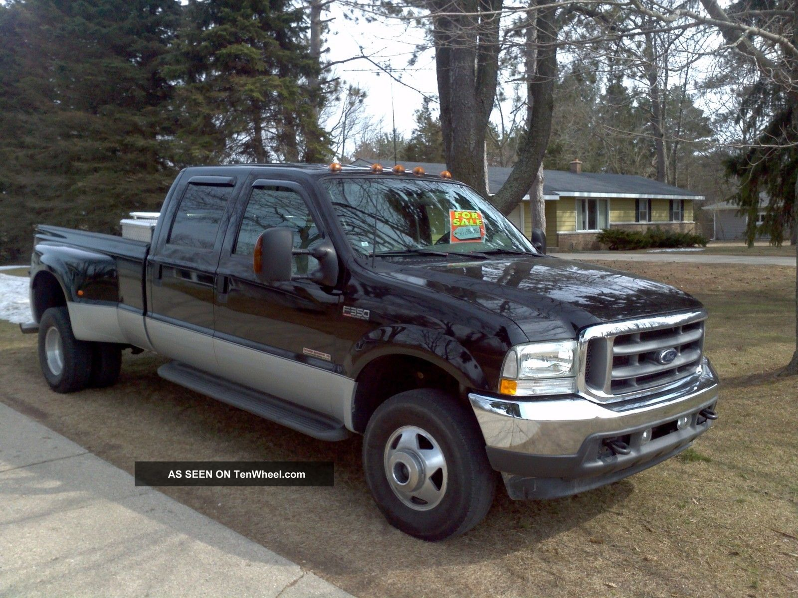 2003 ford f 350 dually powerstroke turbo diesel crew cab lariat loaded 4x4. Black Bedroom Furniture Sets. Home Design Ideas
