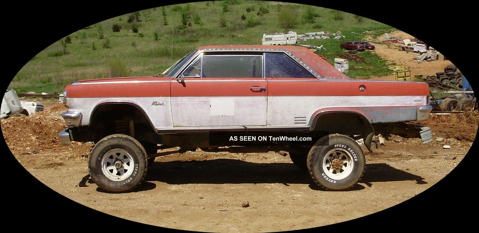 1966 Rambler Rebel Classic Rat Rod 4 Wheel Drive 1976 Ford Frame 390 Motor AMC photo