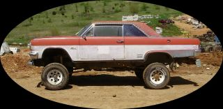 1966 Rambler Rebel Classic Rat Rod 4 Wheel Drive 1976 Ford Frame 390 Motor photo