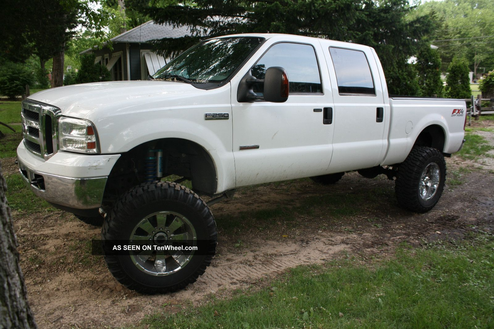 Lifted 2007 Ford F 250 Duty 4x4 Lariat Crew Cab Pickup 4 Door 6 0l Super Trucks