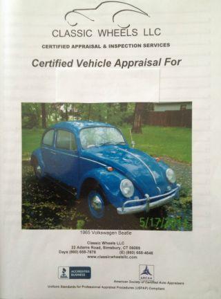 1965 Blue Volkswagen Beetle 2 Door Coupe photo