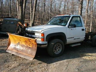 1997 Chevy Fisher V - Snowplow Minute 116k Turbo Diesel 4x4 Auto K3500 photo