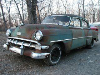 1954 Chevy Stick 6cly Clear Title Rat Hot Rod Custom Runs Drives Ny photo
