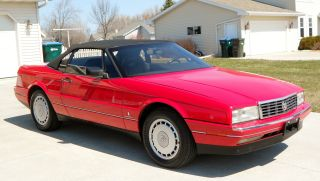 1992 Cadillac Allante Red Convertible Sharp Excellent Look photo