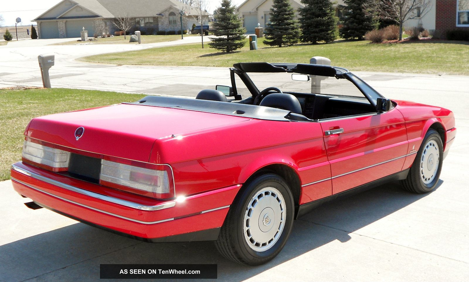 1992 Cadillac Allante Red Convertible Sharp Excellent Look 92 Ford Fiesta Engine Diagram