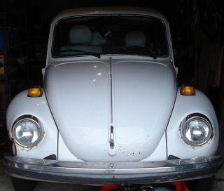 1979 Volkswagen Beetle Base Convertible 2 - Door 1.  6l (triple White) photo