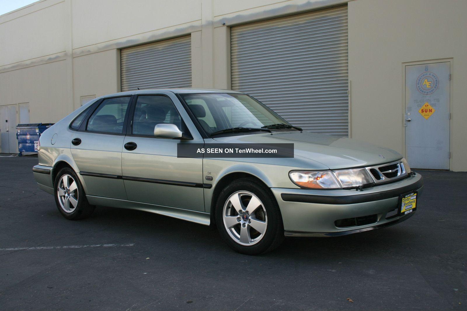 2002 Saab 9 3 Se Hatchback 4 Door 2 0l Turbocharged