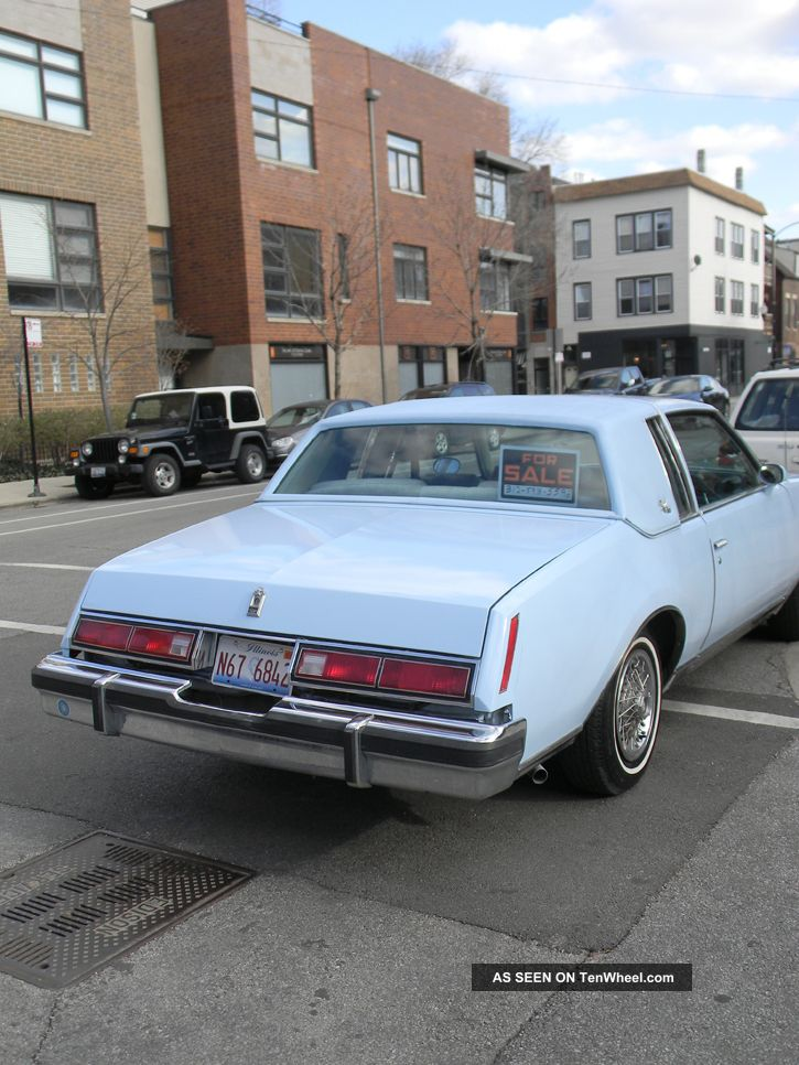1979 Buick Regal Limited Coupe 2 - Door 3. 8l