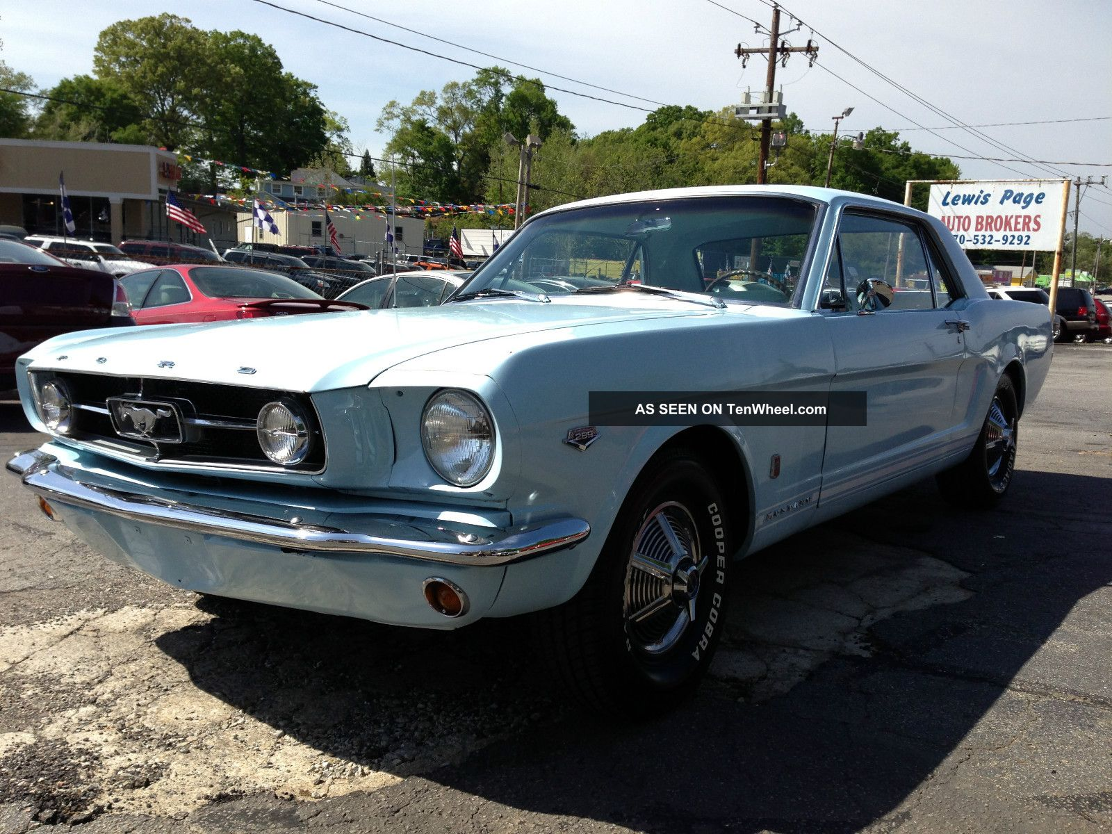 1965 Ford Mustang Gt 289 High Performance